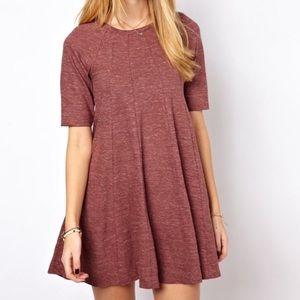 ✰ anthropologie ganni mauve cotton swing dress ✰